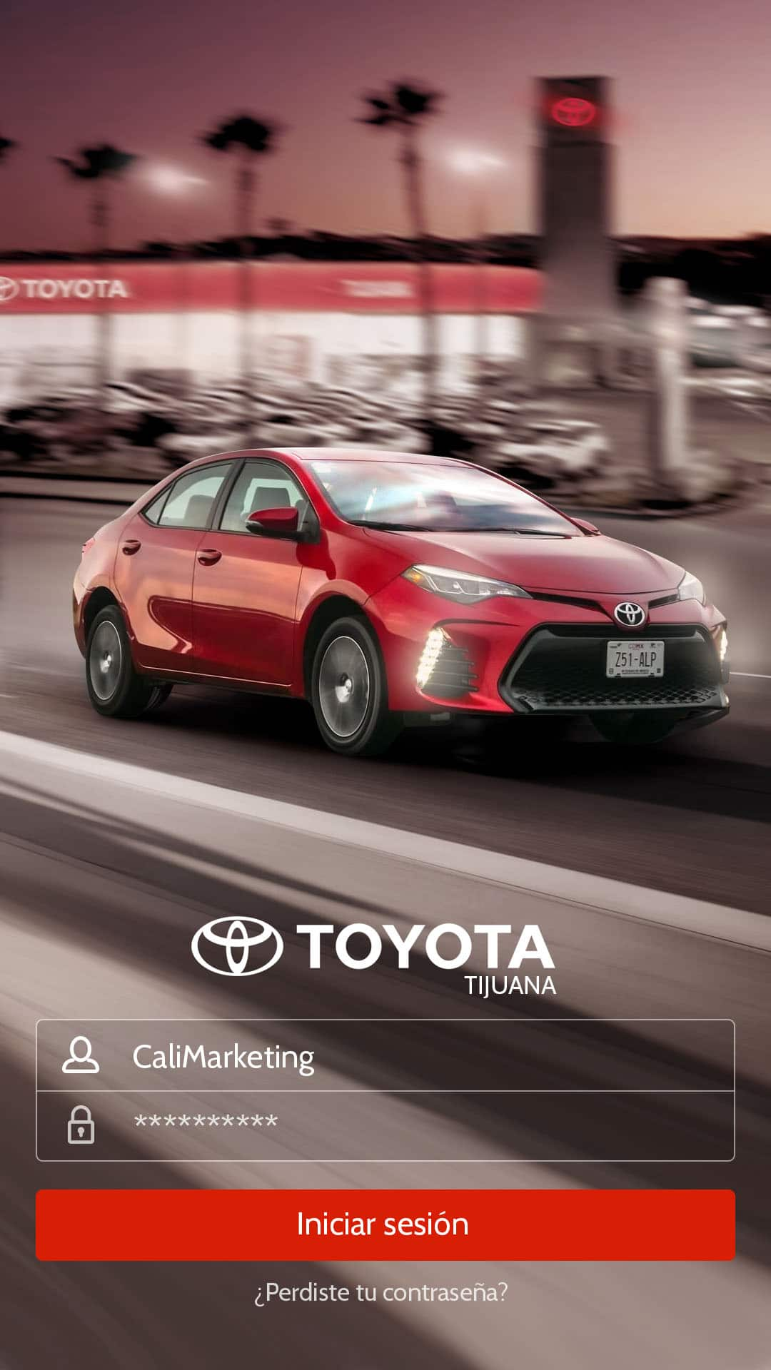 AppDesign ToyotaInicio