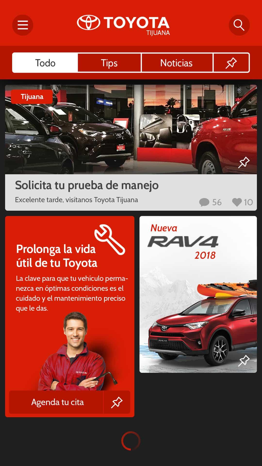 AppDesign ToyotaTips y noticias